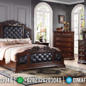Tempat Tidur Ukir Jati Mewah Natural Klasik Royals TTJ-0323