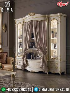 Termewah Lemari Hias Jepara Italian Luxury Design TTJ-0216