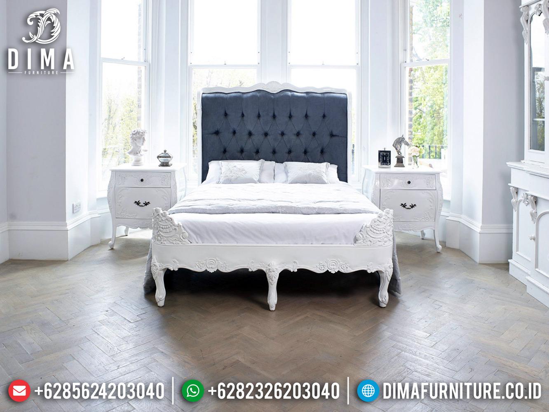 Best Sale Tempat Tidur Mewah France Vintage Carving White Duco Furniture Jepara TTJ-0480