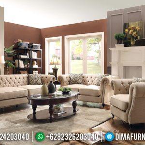 Desain Interior Modern Kursi Sofa Tamu Minimalis Chesterfield TTJ-0456