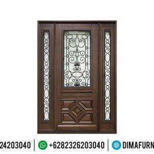 Desain Pintu Rumah Mewah Jati TPK Perhutani Mebel Jepara TTJ-0507