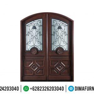 Desain Pintu Rumah Mewah Kayu Jati Dua Pintu Mebel Jepara Terbaru TTJ-0504