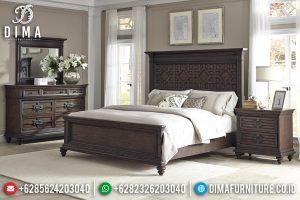 Desain Tempat Tidur Minimalis Jati Kualitas Terbaik Kayu Perhutani TTJ-0457