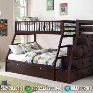 Dipan Tingkat Anak Set Tempat Tidur Anak Jati Natural Jepara TTJ-0409