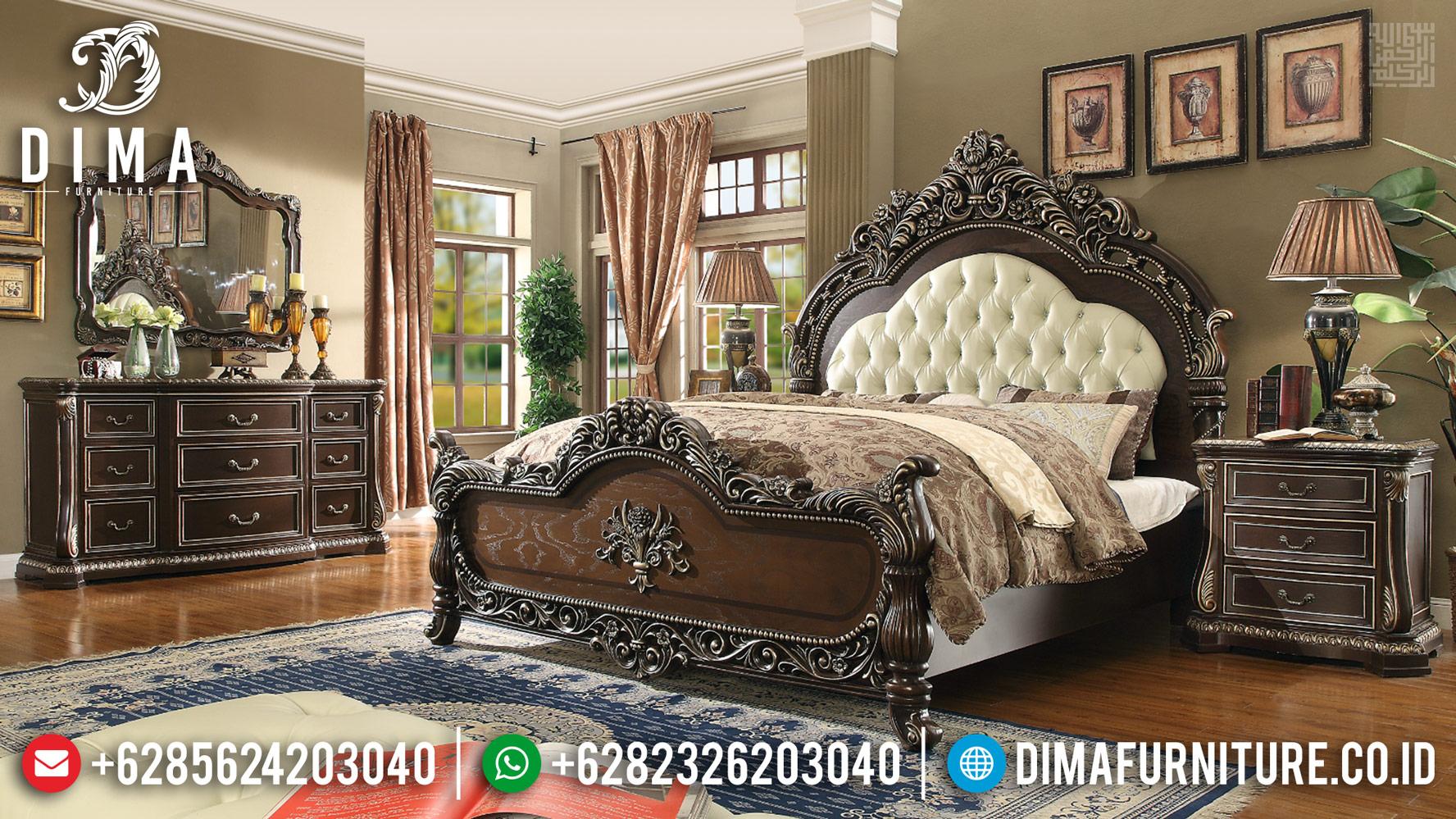 Discount Sale Tempat Tidur Jati Mewah Natural Luxury Classic Jepara TTJ-0422