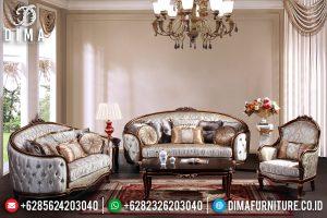 Furniture Jepara Kekinian Sofa Tamu Mewah Jati Natural Kombinasi Classic Ukir TTJ-0448