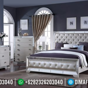Furniture Jepara Kekinian Tempat Tidur Mewah Modern Gold Champagne With Glasses TTJ-0426