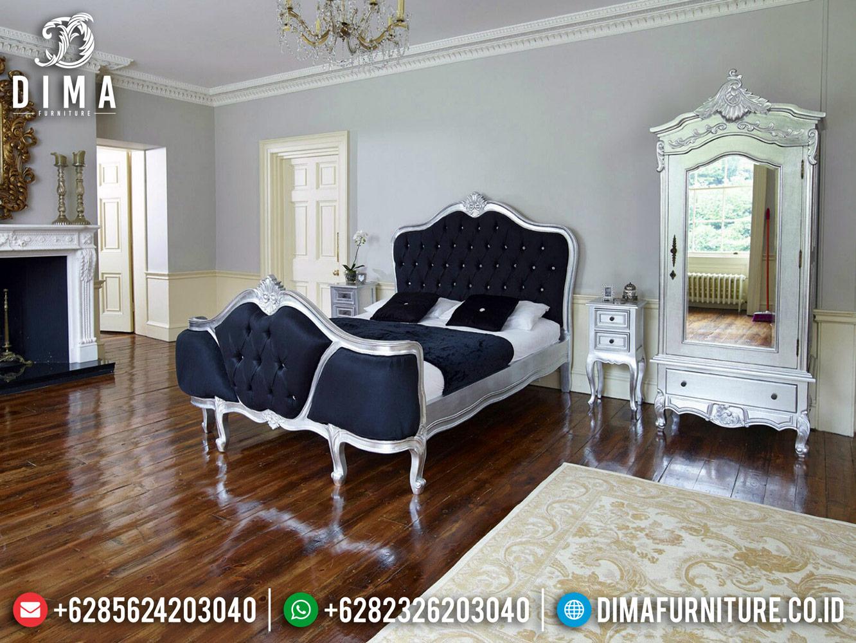 Furniture Jepara Tempat Tidur Mewah Silver Duco Free Ongkir Pulau Jawa Bali TTJ-0478