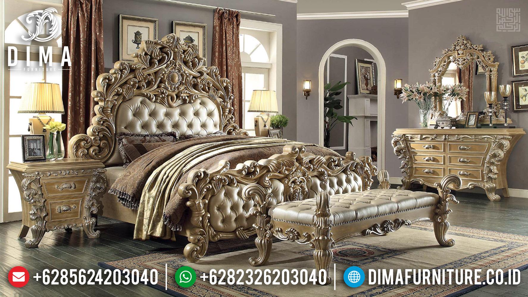 Harga Tempat Tidur Mewah Full Ukiran Luxury Asli Jepara TTJ-0427