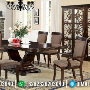 Jual Meja Makan Minimalis Elegant Jati Furniture Jepara Classic TTJ-0469
