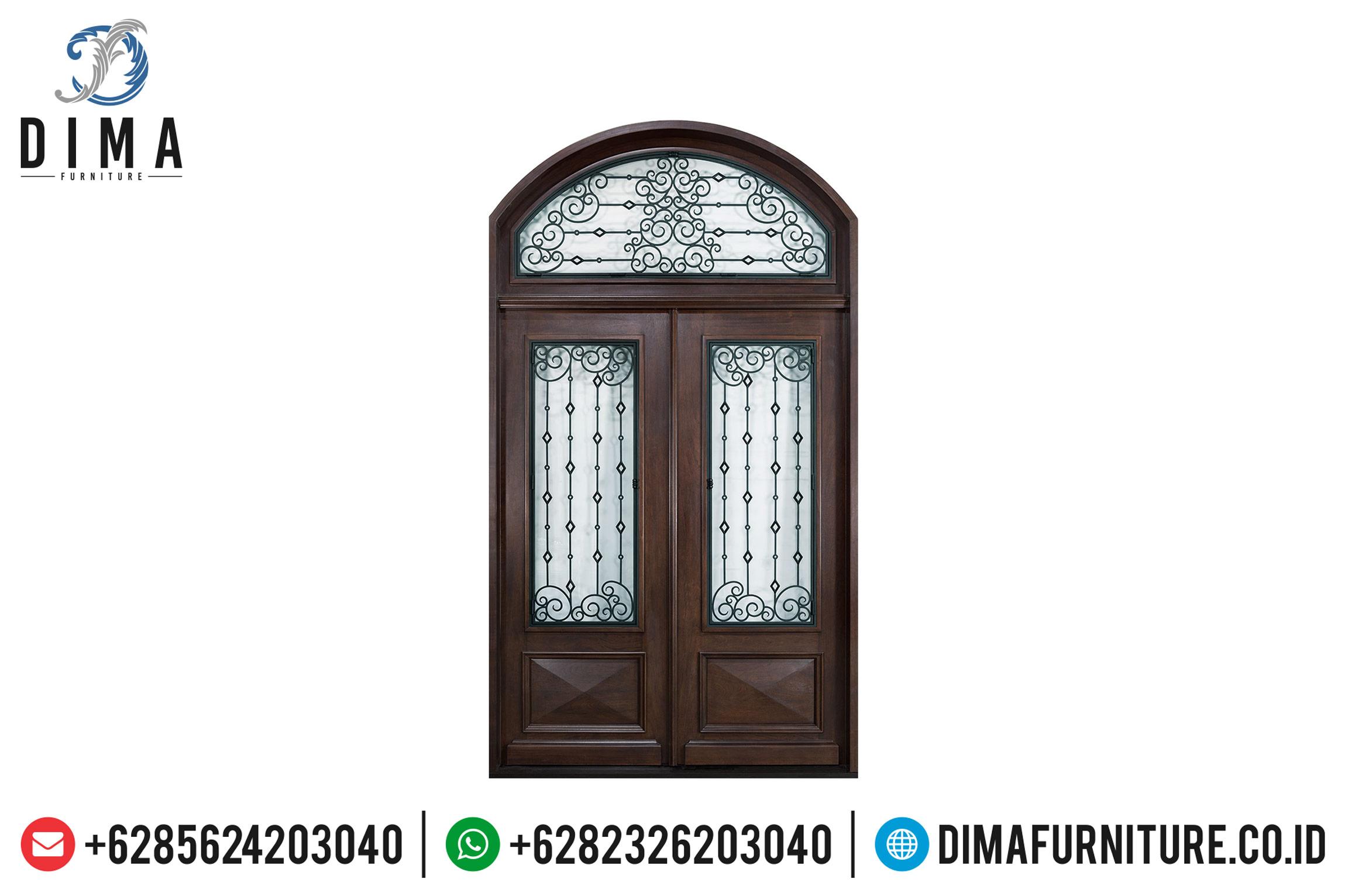 Jual Pintu Jati Jepara, Kusen Pintu Jati Mewah Furniture Luxury TTJ-0512