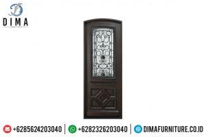 Jual Pintu Jati Jepara Natural Dark Brown Minimalis TTJ-0515