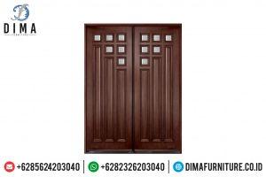 Jual Pintu Rumah Double Jati Jepara Natural Salak Brown Mewah TTJ-0495