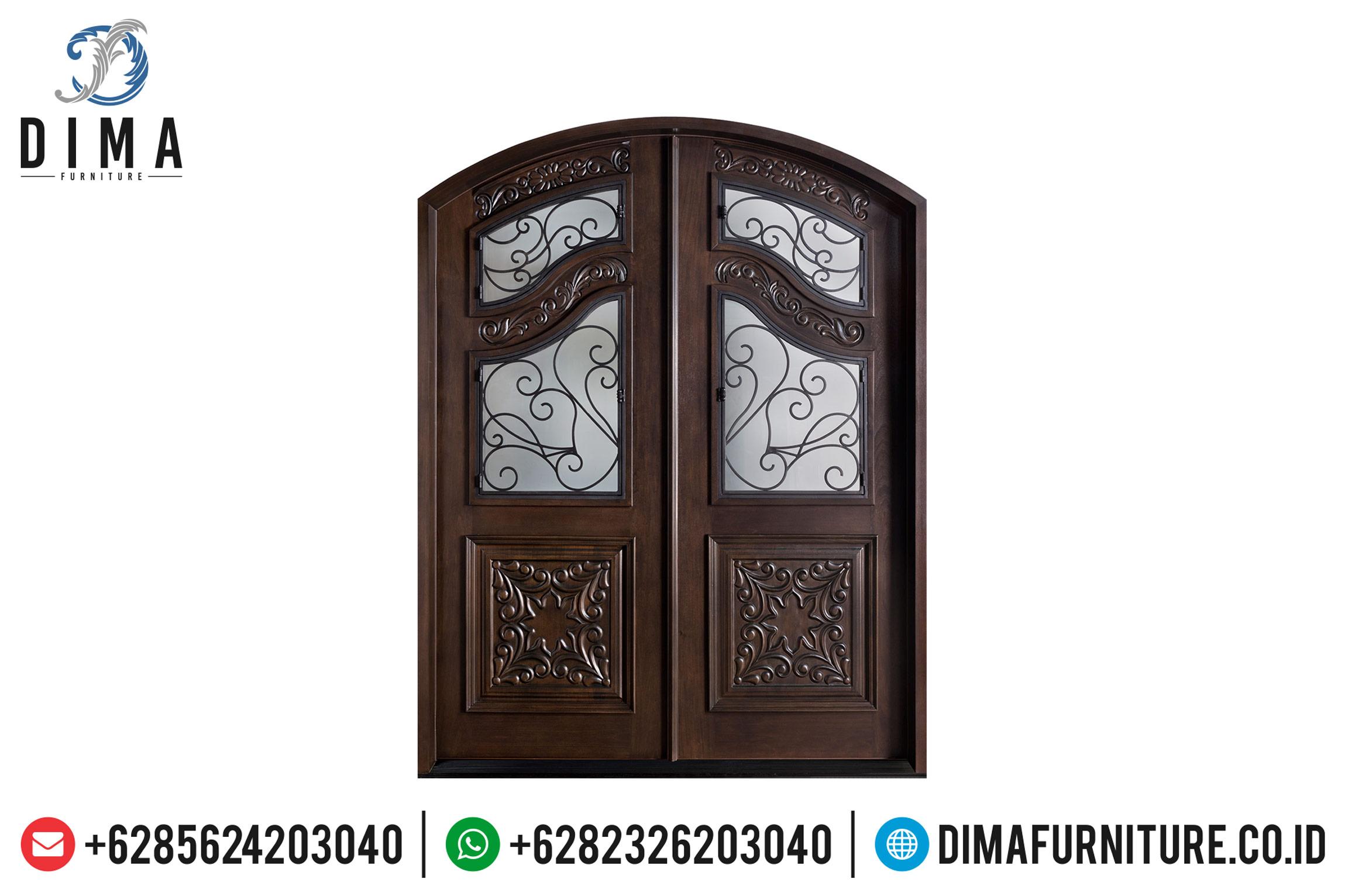 Jual Pintu Rumah Mewah Jati Natural Classic New Design Furniture Jepara TTJ-0506