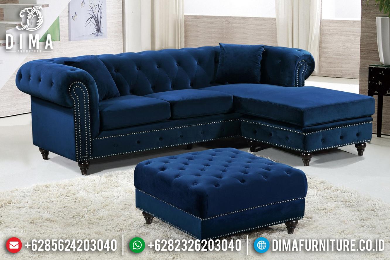 Jual Sofa Tamu Minimalis Modern Jepara Beludru Fabric TTJ-0482
