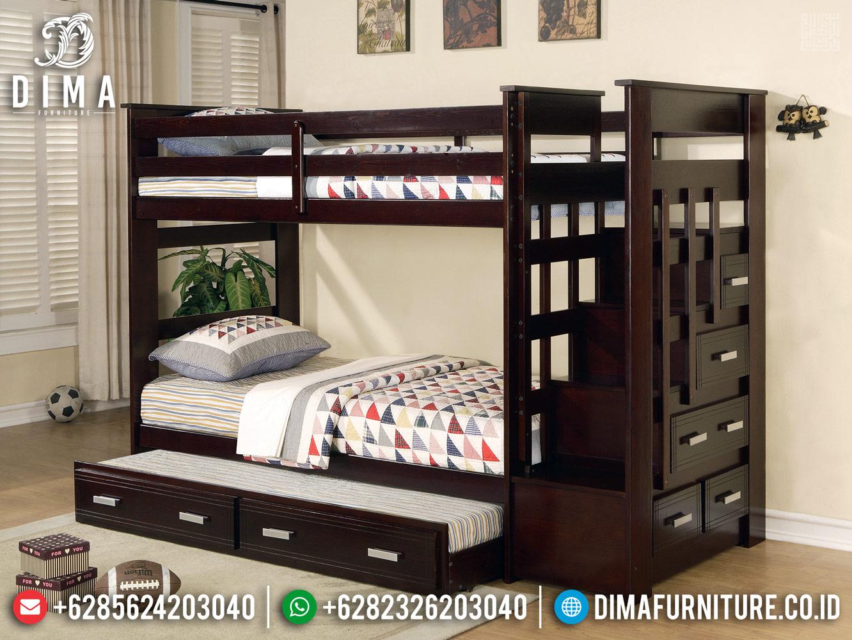 Jual Tempat Tidur Anak Dipan Tingkat Furniture Jepara Kekinian Ttj-0412