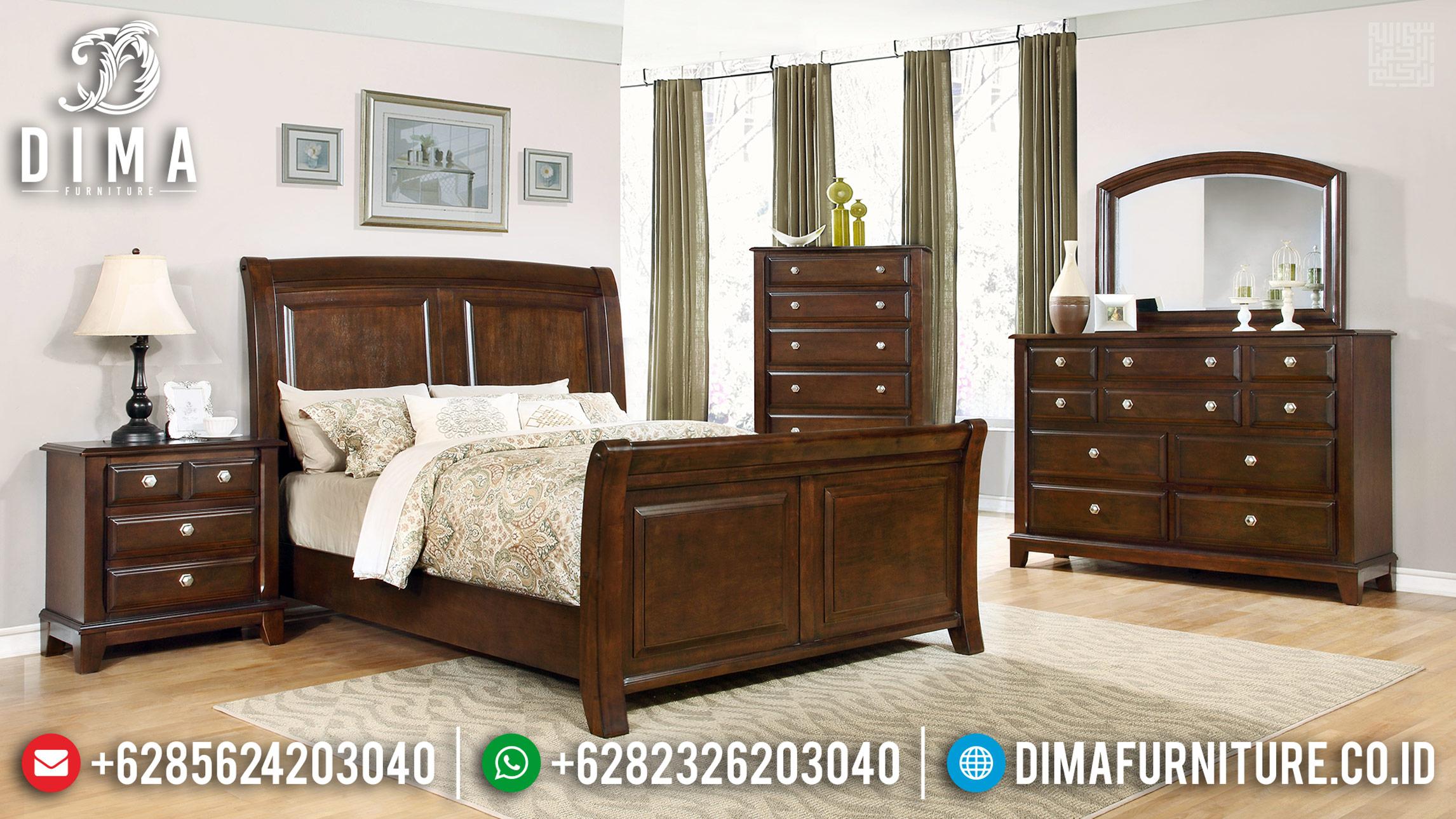 Jual Tempat Tidur Jati Jepara Natural Classic Rose Wood Color Glossy TTJ-0439