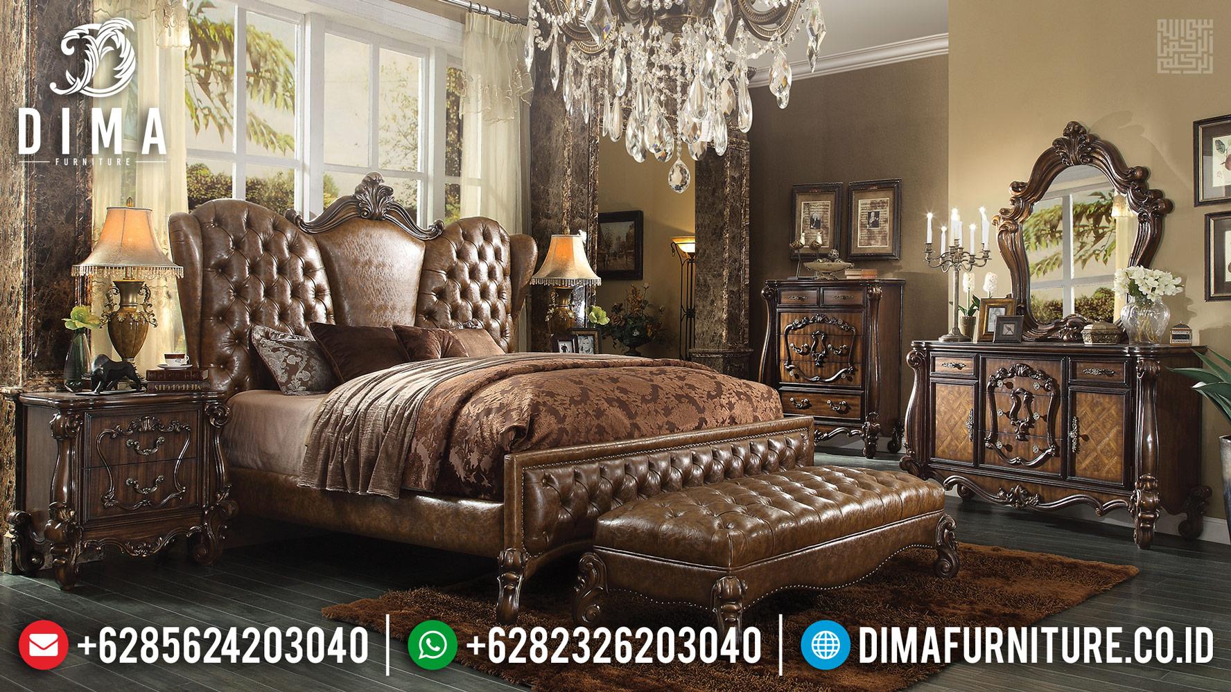 Jual Tempat Tidur Mewah Valencia Ukiran Classic Furniture Jepara TTJ-0429