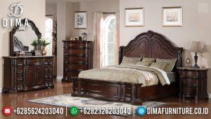Kamar Set Jati Natural Salak Brown Dipan Ranjang Tempat Tidur Mewah Classic TTJ-0438