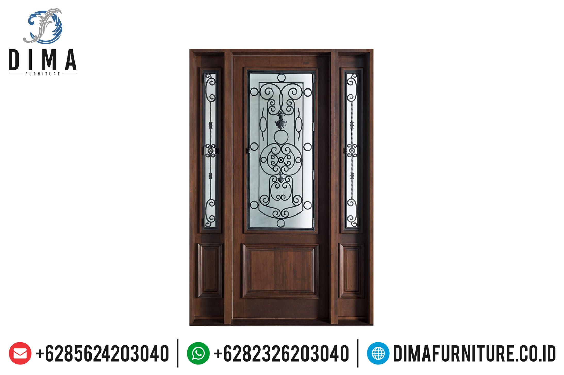 Kusen Pintu Kayu Jati TPK Perhutani Natural Classic Ukiran Jepara TTJ-0498