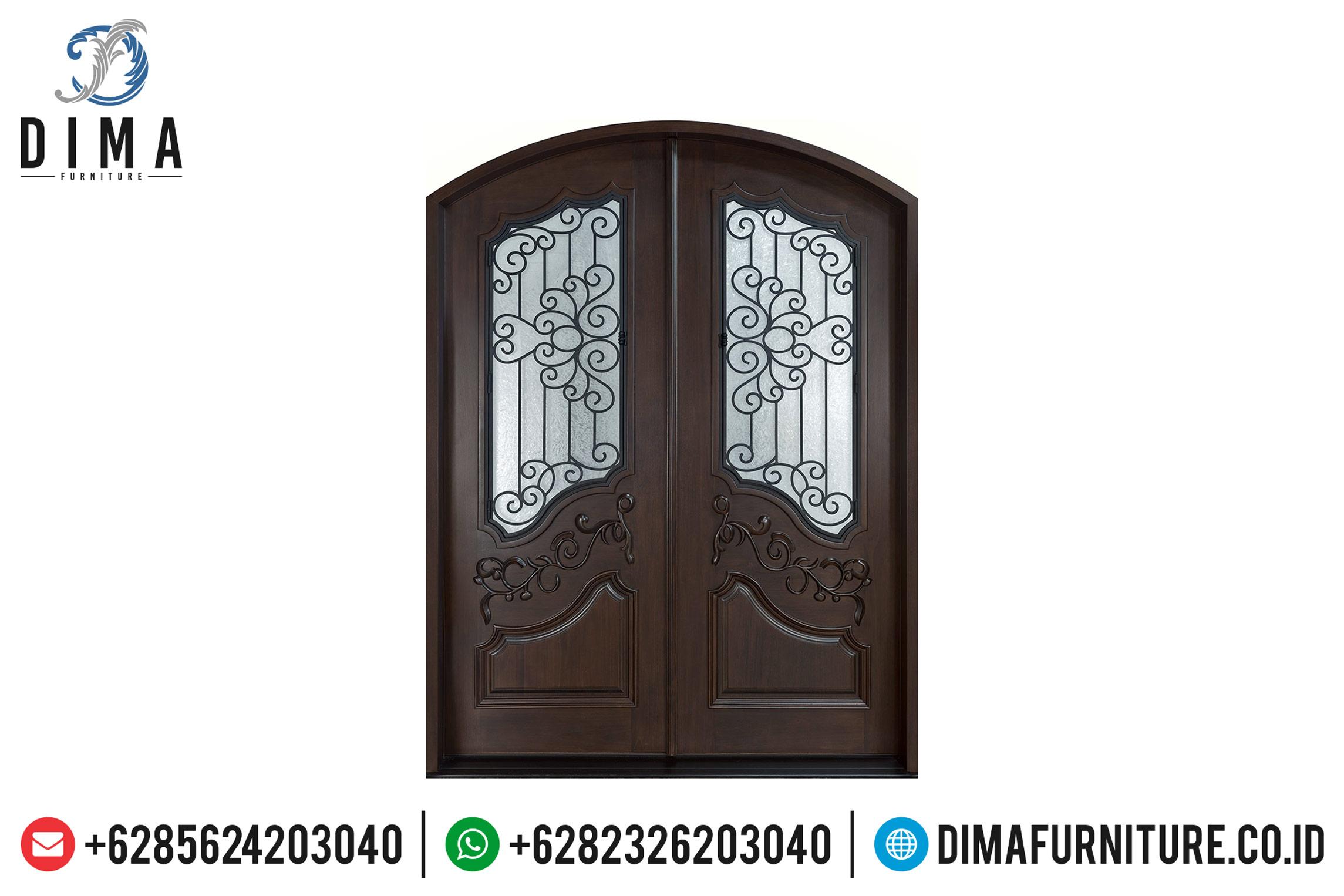 Model Pintu Rumah Utama Mewah Jati Natural New Design 2020 TTJ-0509