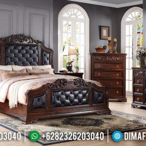 New Design Tempat Tidur Mewah Natural Jati Harga Terjangkau TTJ-0421