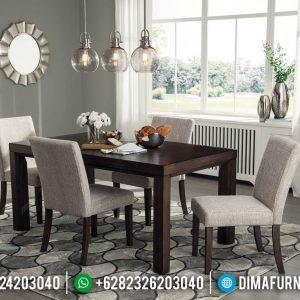 New Meja Makan Jati Minimalis Full Fabric Furniture Jepara Terlaris TTJ-0404