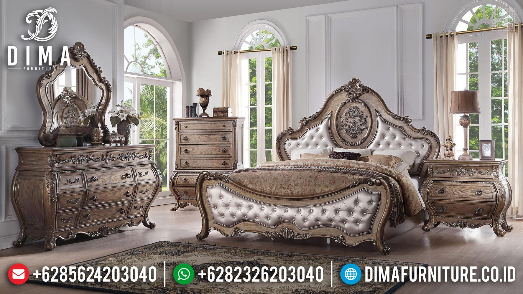 New Model Tempat Tidur Mewah Jepara Veneer Marquetry Carving Luxury TTJ-0435