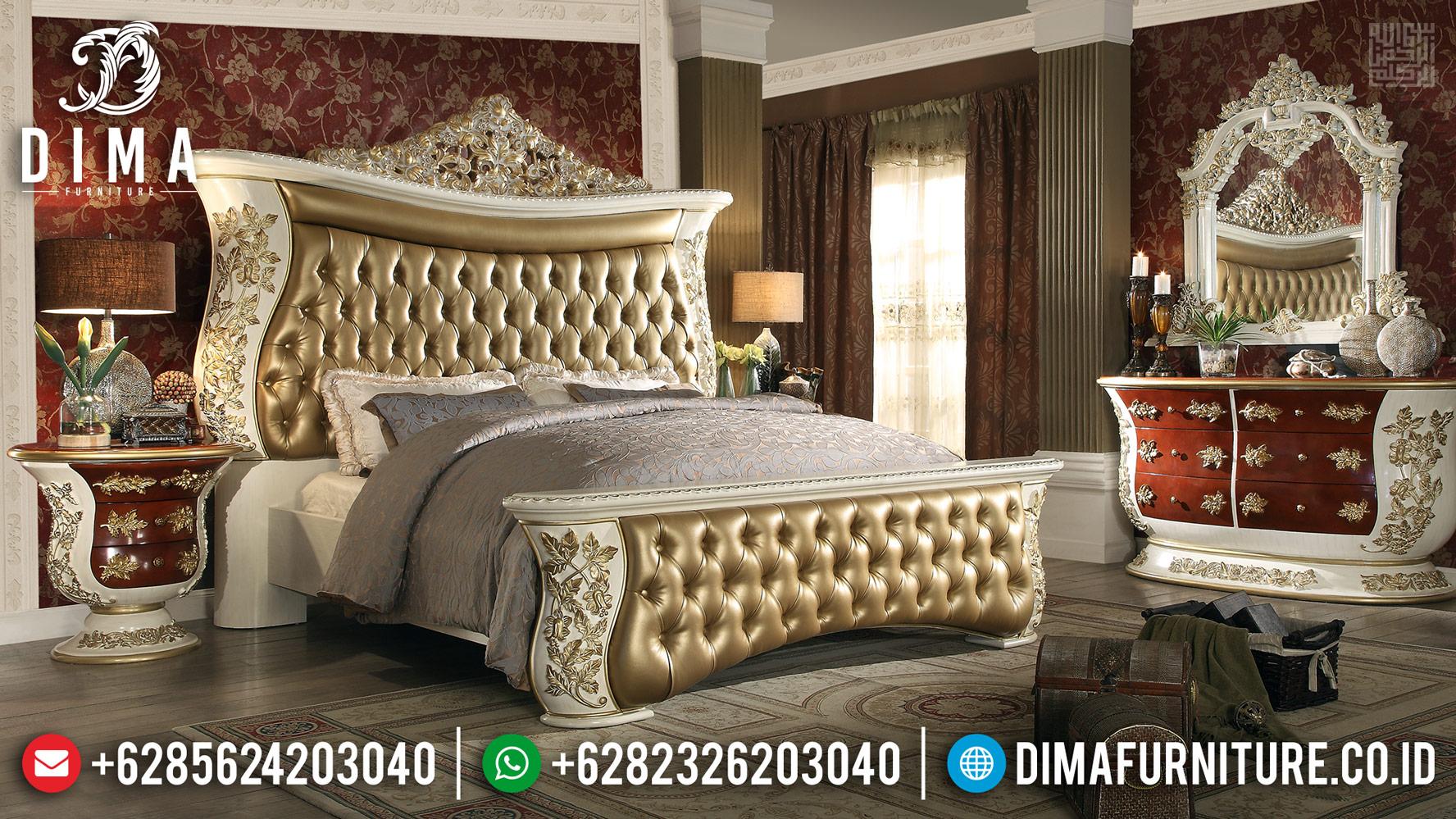 New Tempat Tidur Mewah Romanian Luxury Carving Duco TTJ-0418