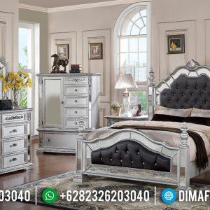 New Tempat Tidur Mewah Silver Duco Furniture Jepara Terbaru TTJ-0425