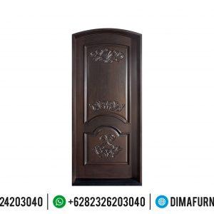 Pintu Jati Ukir Jepara Natural Classic Kayu Perhurtani TTJ-0493