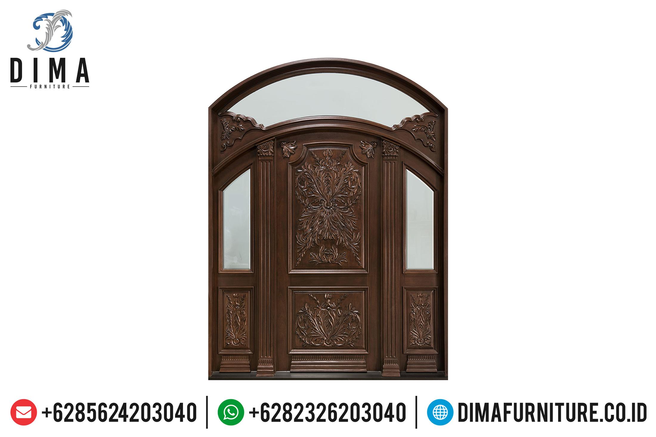 Pintu Rumah Jepara Ukiran Mewah Konsep Luxury Mansion Home TTJ-0513