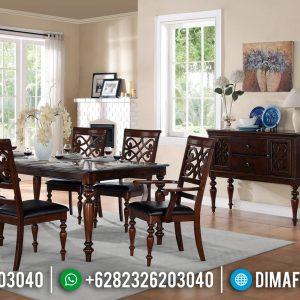 Set Kursi Meja Makan Minimalis Jati Furniture Jepara Terpercaya TTJ-0470