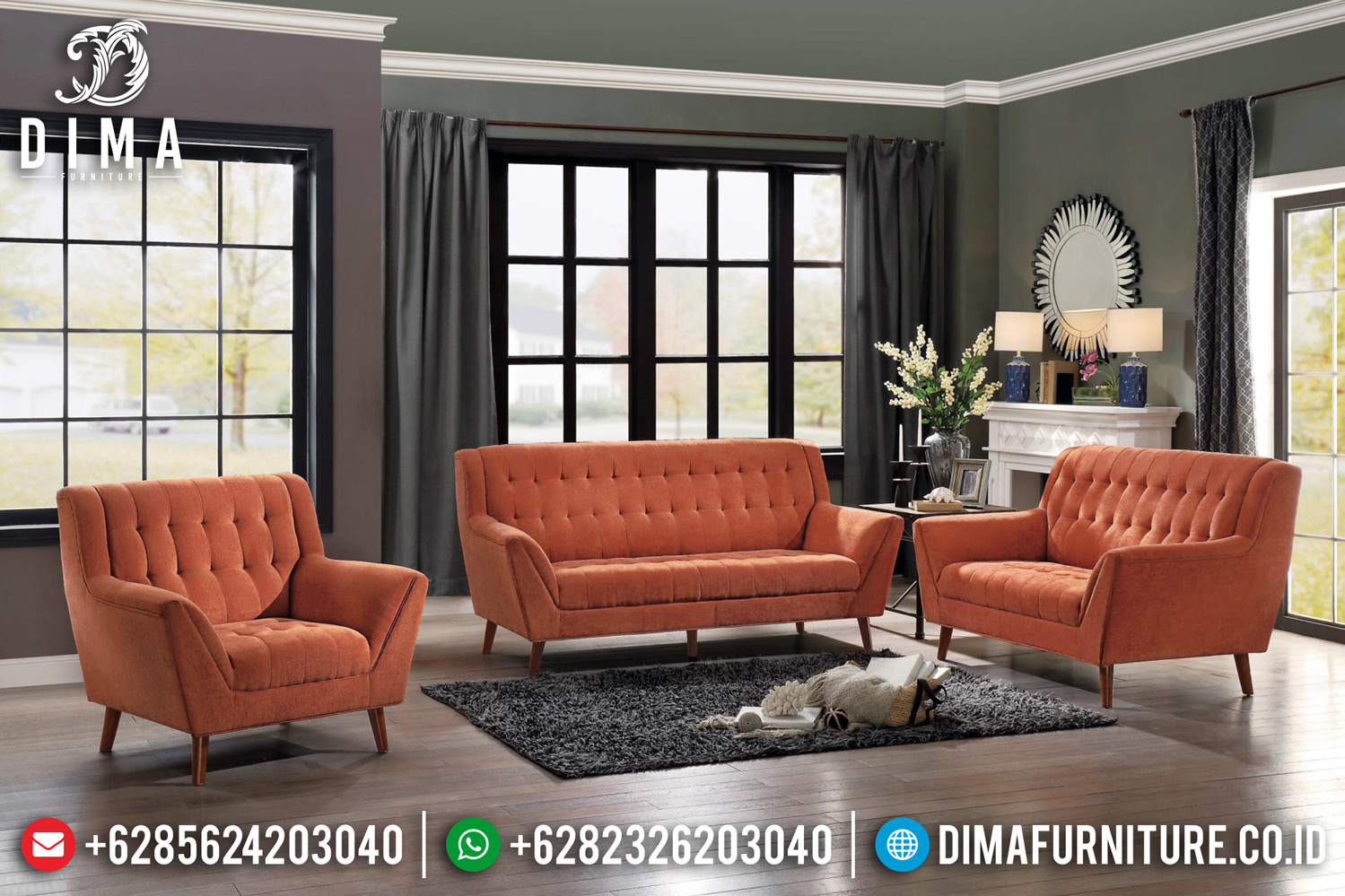 Set Sofa Tamu Minimalis Madisson Modern Design TTJ-0490
