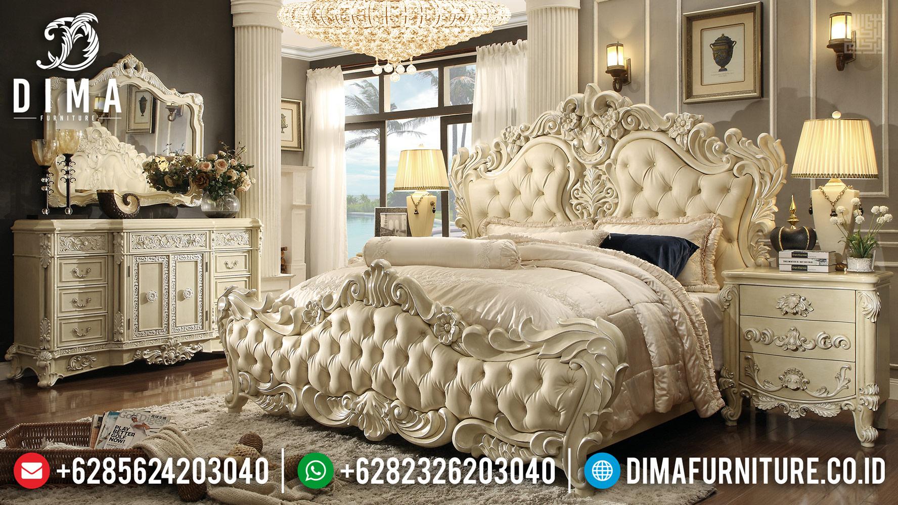 Set Tempat Tidur Mewah Jati Ukiran Classic Furniture Jepara Luxury TTJ-0417