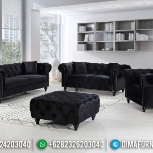 Sofa Tamu Minimalis Modern Chesterfield Furniture Jepara TTJ-0481