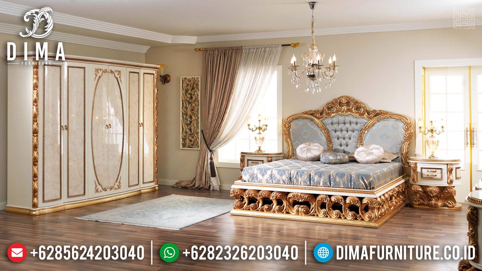 Superior Luxury Tempat Tidur Jepara Mewah Golden Diamond Glossy TTJ-0434