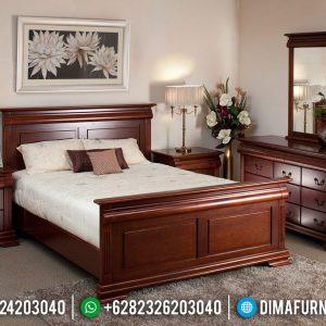 Desain Kamar Set Minimalis Natural Jati Modern Interior Design TTJ-0544