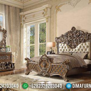 Dipan Ranjang Ukiran, Set Kamar Mewah, Tempat Tidur Luxury Classic Jepara TTJ-0538