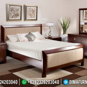 Furniture Jepara Kamar Set Minimalis Classic Natural Jati Perhutani TTJ-0543