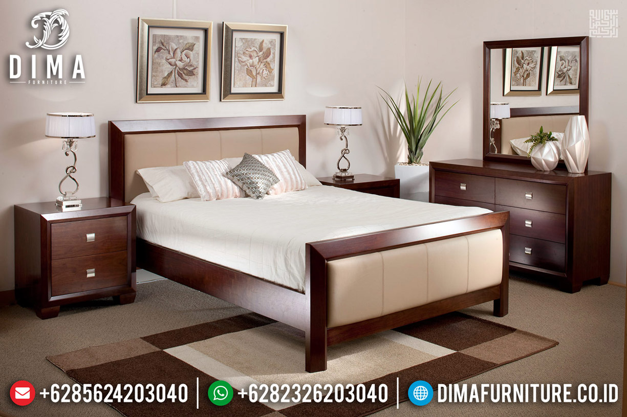 Furniture Jepara Kamar Set Minimalis Classic Natural Jati Perhutani TTJ-0543
