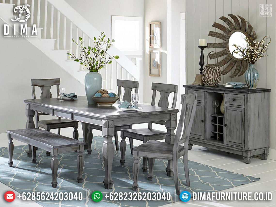 Furniture Jepara Meja Makan Minimalis Classic French Retro Rustic TTJ-0551