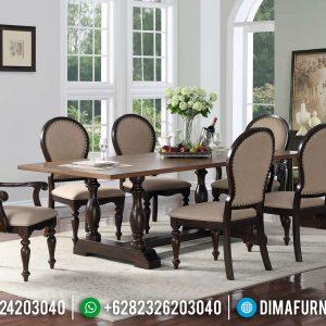 Harga Meja Makan Klasik Natural Jati Furniture Jepara TTJ-0578