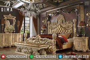 Harga Tempat Tidur Mewah Full Ukiran Jepara Desain Classic Imperial TTJ-0536