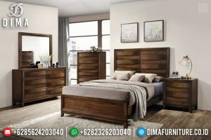 Jual Set Tempat Tidur Minimalis Jati Classic Natural Jepara TTJ-0541