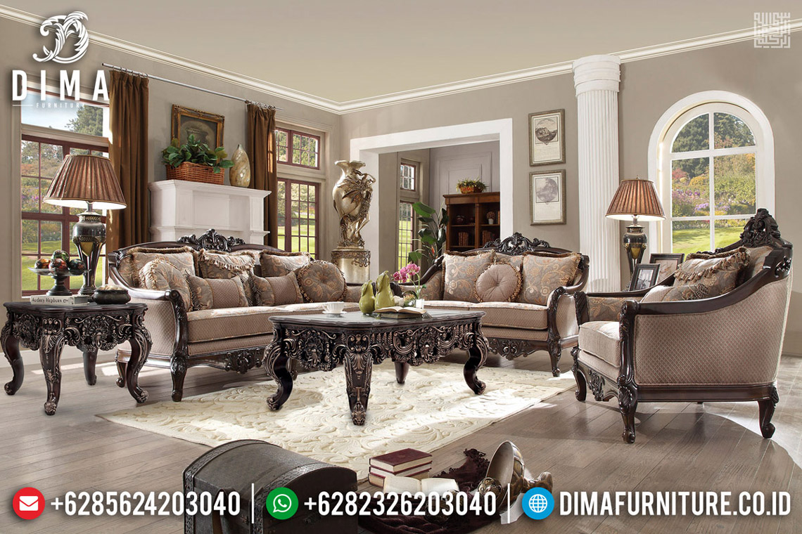 Jual Sofa Tamu Mewah Ukiran Classic Luxury Jepara Bergaransi TTJ-0557