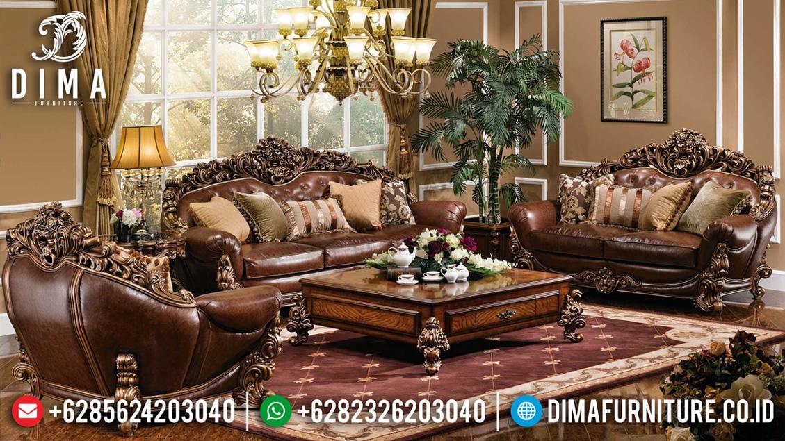 Kursi Sofa Tamu Mewah Ukiran Classic Jepara New Design 2020 TTJ-0568