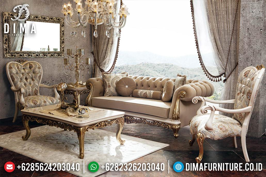 Kursi Tamu Sofa Mewah Ukiran Luxury New Design Interior Konsep TTJ-0520