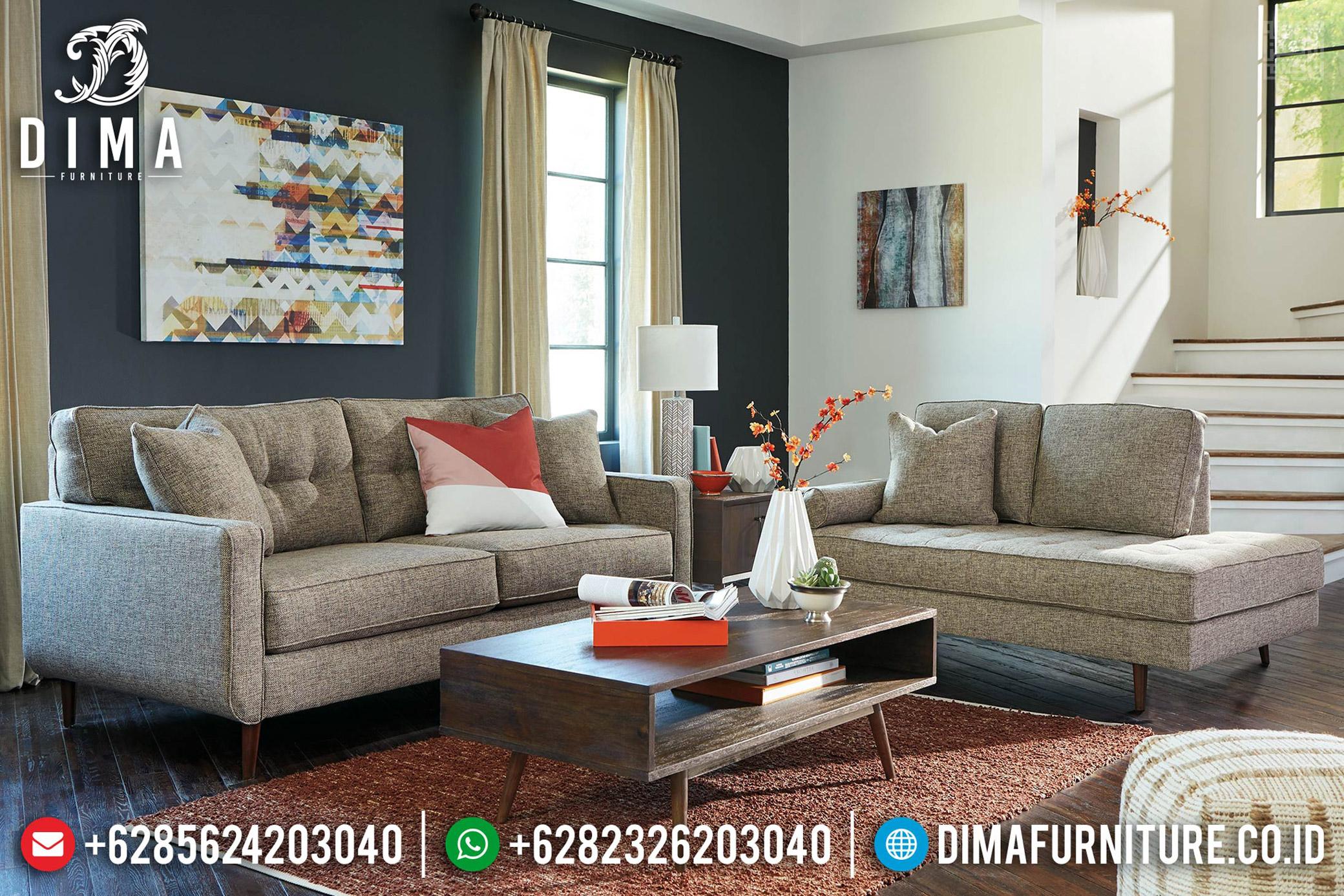 Retro Style Sofa Tamu Minimalis Natural Classic Jati Jepara TTJ-0564