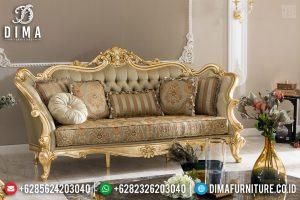 Set Sofa Tamu Mewah Jepara 3 Seater Golden Gloss Classic TTJ-0524